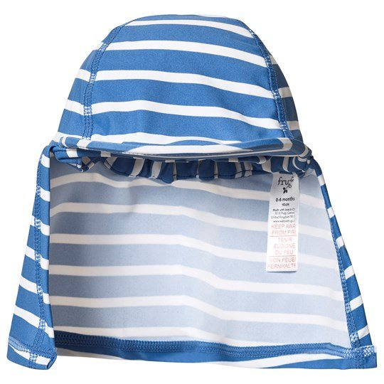 Frugi Little Swim Legionnaires Hatt Blå Sail Blue Stripe