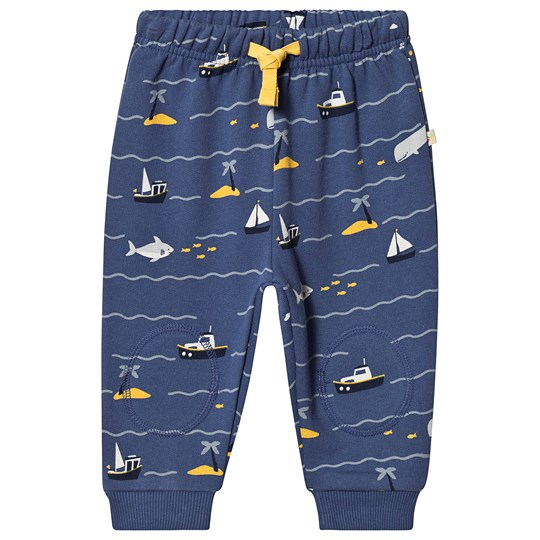 Frugi Snuggle Crawler Pants Navy Island Hopping