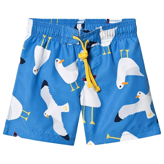 Frugi Seagull Swim Trunks Blue Guys and Gulls
