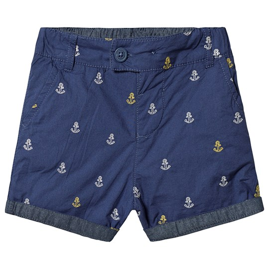 Frugi Ralph Reversible Shorts Navy Marine Blue Anchors