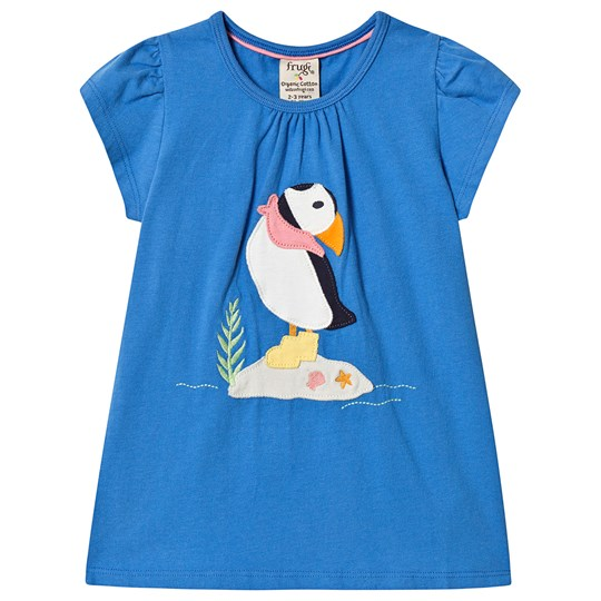 Frugi Ellie Lunnefågel T-Shirt Blå Sail Blue/Puffin