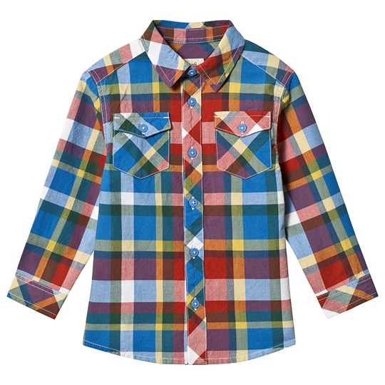 Frugi Hector Check Shirt Scilly Check