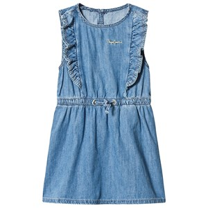 Image of Pepe Jeans Annabella Frill Dress Blue 12 years (3126771799)