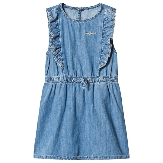 Pepe Jeans Annabella Frill Dress Blue 000