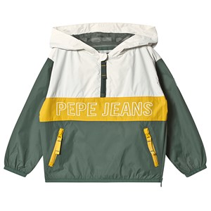 Image of Pepe Jeans Brandon Windbreaker Green and Cream 6 years (3126773083)