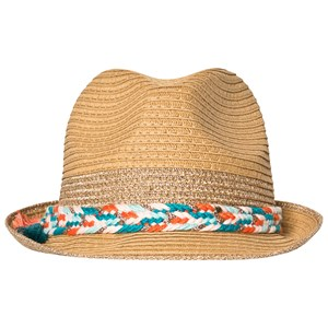 Image of Catimini Beige and Gold Ribbon Detail Trilby Hat 51 (4-6 years) (3126774069)