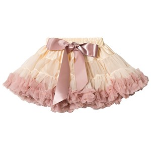 Image of DOLLY by Le Petit Tom Brigitte Bardot Pettiskirt Cream/Dusty Pink Medium (6-8 år) (3126773619)