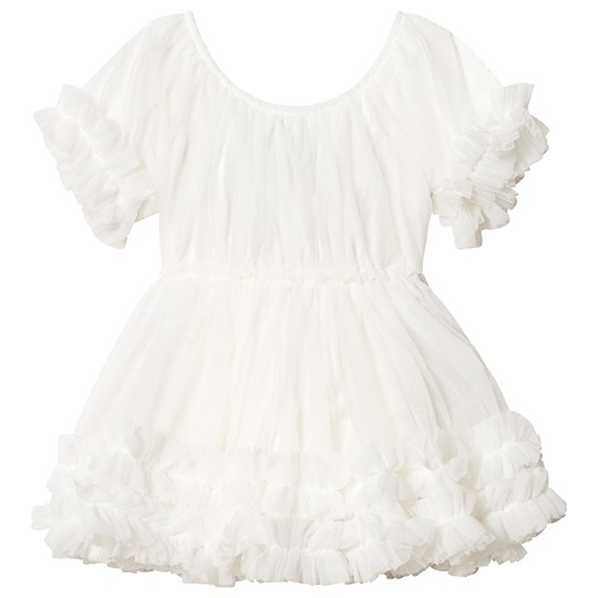 DOLLY by Le Petit Tom Frilly Dress Off White Off white