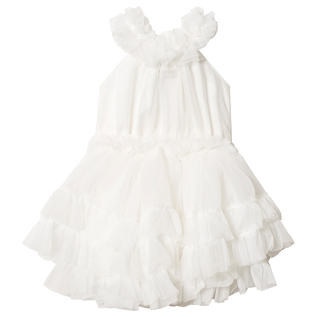 3ac24ffc02ea Chiffong Dans Klänning med Volanger Off White - DOLLY by Le Petit Tom -  Babyshop