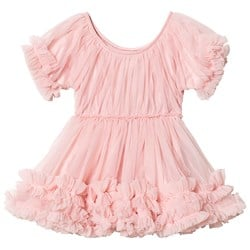 DOLLY by Le Petit Tom Frilly Dress Rose Pink