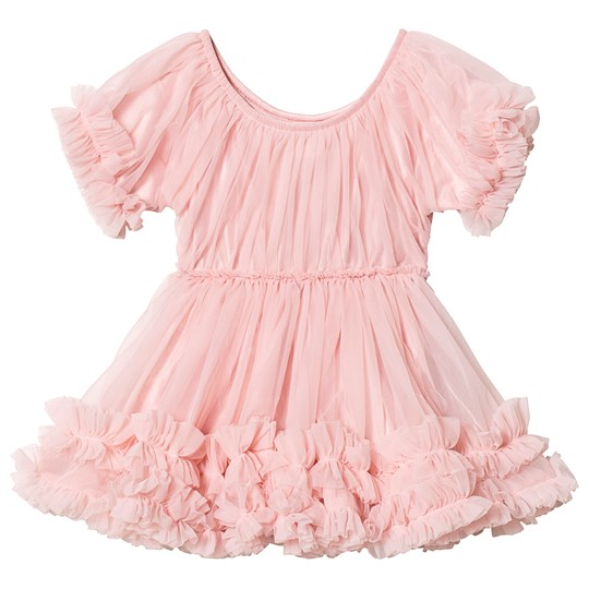 DOLLY by Le Petit Tom Frilly Klänning Rose Rose Pink