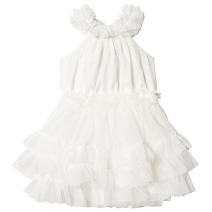 Image of DOLLY by Le Petit Tom Ruffled Chiffon Dance Dress Off White Newborn (3-18 mdr) (3126773925)