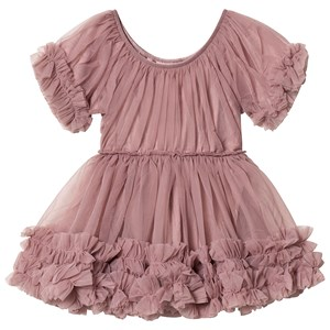 Image of DOLLY by Le Petit Tom Frilly Dress Mauve Large (8-10 år) (1462171)