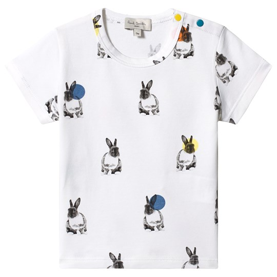 Paul Smith Junior White Bunny and Spots Print Tee 01