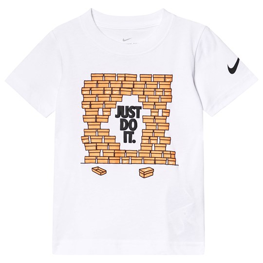 NIKE Shoebox Graphic T-shirt Vit 001