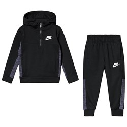 NIKE Black AV 15 Half Zip Jogger Set