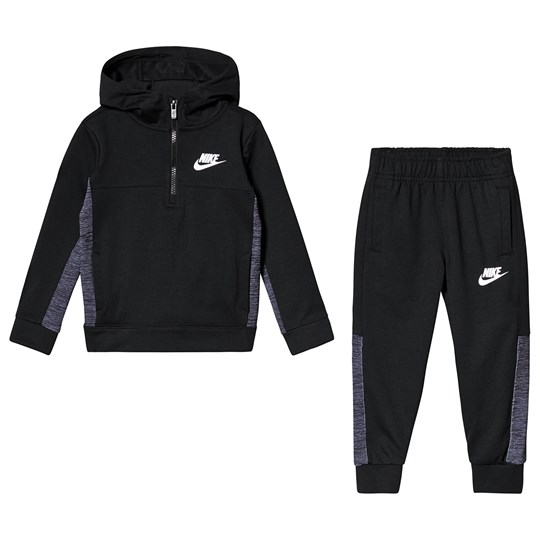 NIKE Black AV 15 Half Zip Jogger Set 023