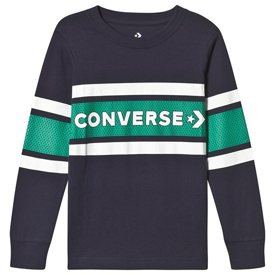 Converse Branded Long Sleeve Tee Navy 695