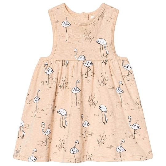 Rylee + Cru Flamingos Layla Mini Dress Blush Blush