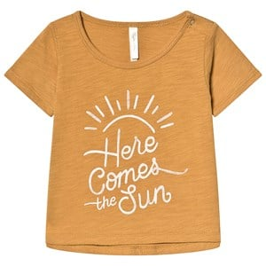 Image of Rylee + Cru Here Comes The Sun Basic Tee Saffron 12-18 mdr (3127574467)