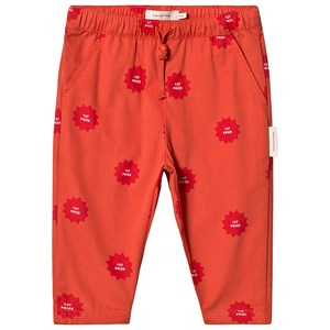 Image of Tinycottons 1st Prize Cropped Pants Deep Red/Red 10 år (3127576753)