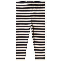 Tinycottons Stripes Leggings Cream/Navy