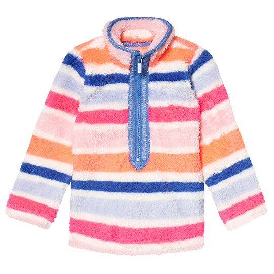 Tom Joule Multi Stripe Half Zip Fleece PINK MULTI STRIPE