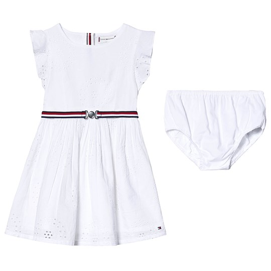 Tommy Hilfiger Broderie Anglaise Dress White 123