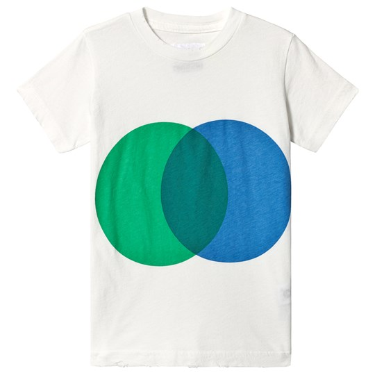 NUNUNU Colorful Circle T-Shirt White/Green White/green