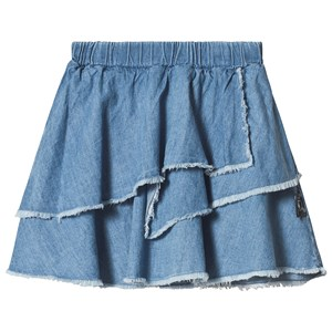 Image of NUNUNU Layered Denim Skirt Light Denim 8-9 år (3126773267)