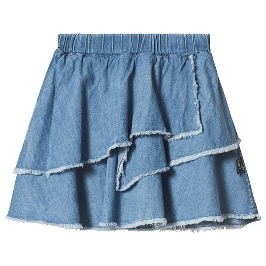 NUNUNU Layered Denim Skirt Light Denim Light Denim