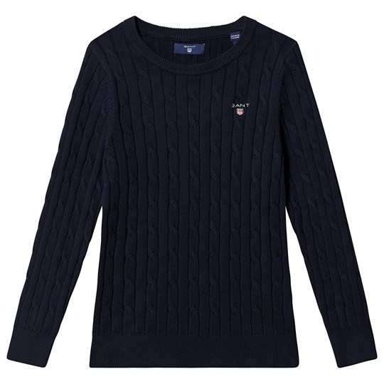 GANT Cable Knit Sweater Navy 433