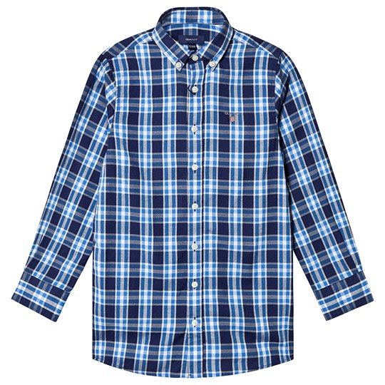 GANT Checked Shirt Blue and Navy 441