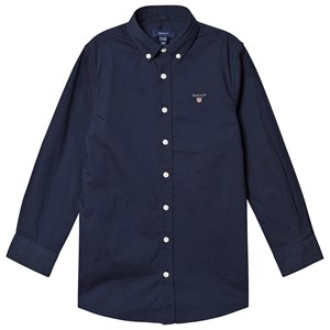 Image of GANT Branded Oxford Shirt Navy 122-128cm (7-8 years) (3127535059)