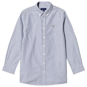 Image of GANT Banker Shirt Navy and White 122-128cm (7-8 years) (3127535085)