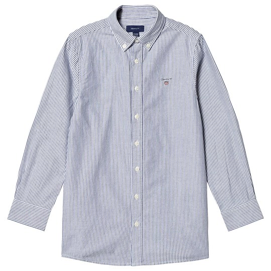 GANT Banker Shirt Navy and White 436