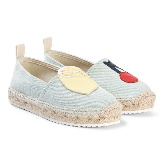 Bonpoint Applique Espadrilles Light Blue 117