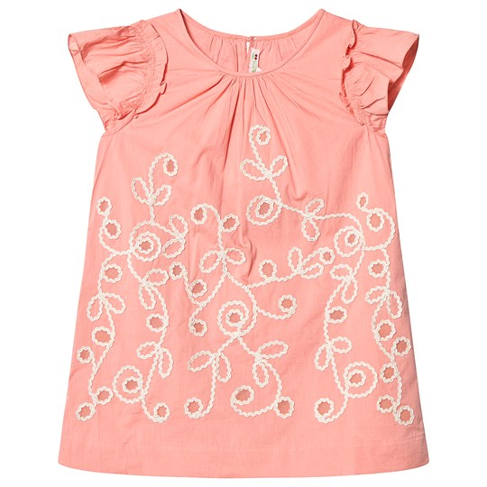 63efdbe8fd3 Bonpoint - Embroidered Dress Peach - Babyshop.com