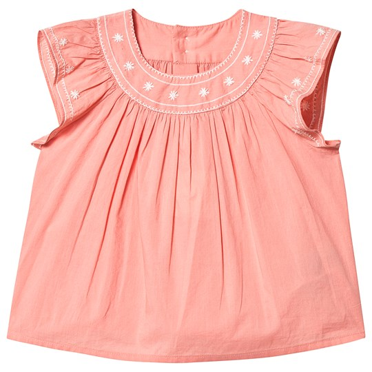 Bonpoint Embroidered Blus Peach 122A