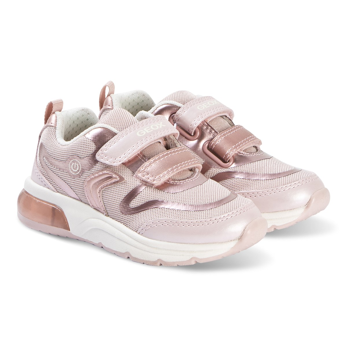Rose Gold Spaceclub Velcro Trainers