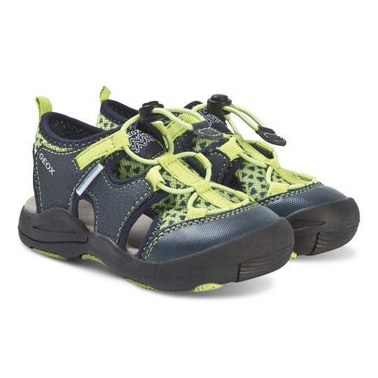 Geox Navy and Lime Kyle Water Friendly Closed Toe Sandals C2302