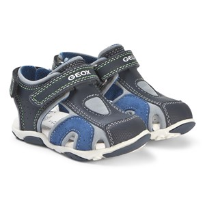Image of Geox Agasim Sandals Navy and Royal Blue 25 (UK 7.5) (3127553297)