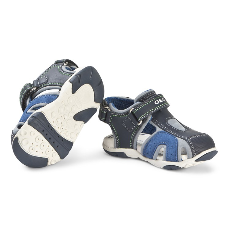 Geox Multi Navy Agasim Closed Toe Sandals Babyshop.no