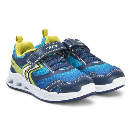 07ca4c8dc8e Geox - Blue and Lime Dakin Velcro Trainers - Babyshop.com