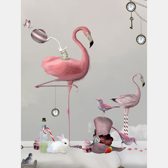 By On Poster Flamingo 30 x 40 cm Grey