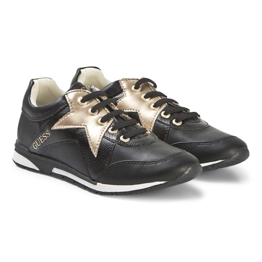 Guess Star Sneakers Black and Gold 001