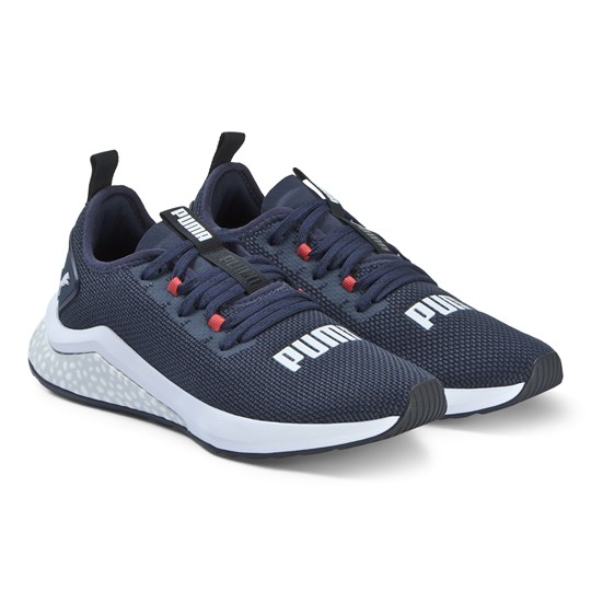Puma Navy Hybrid NX Branded Trainers PEACOAT/RED