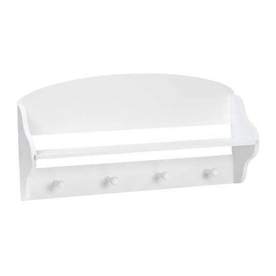 JOX Wall shelf with hangers White