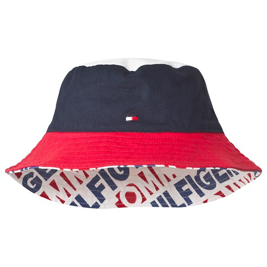 Tommy Hilfiger Reversible Branded Bucket Hat Red 901