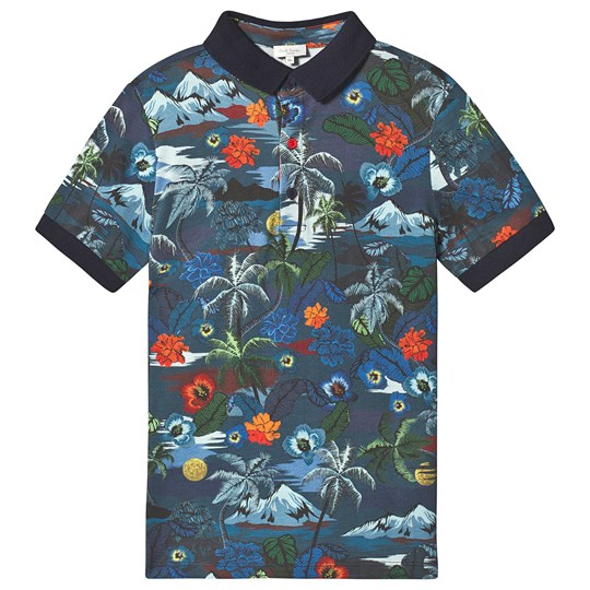 Paul Smith Junior Tropical Pique Polo Navy 492